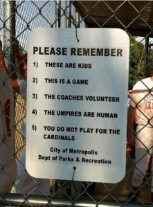 good sportsmanship sign in Metropolis, Illinois