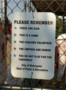 good sportsmanship sign in Metropolis, Illinois