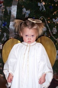 My Cutest Christmas Angel when she was 1 year old