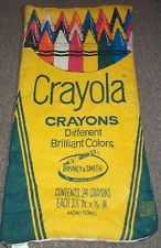 1980's crayon sleeping bag