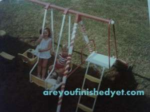 backyard swingset