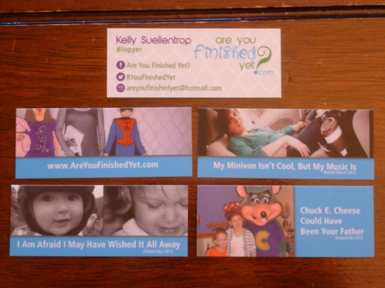 Are You Finished Yet Business Cards