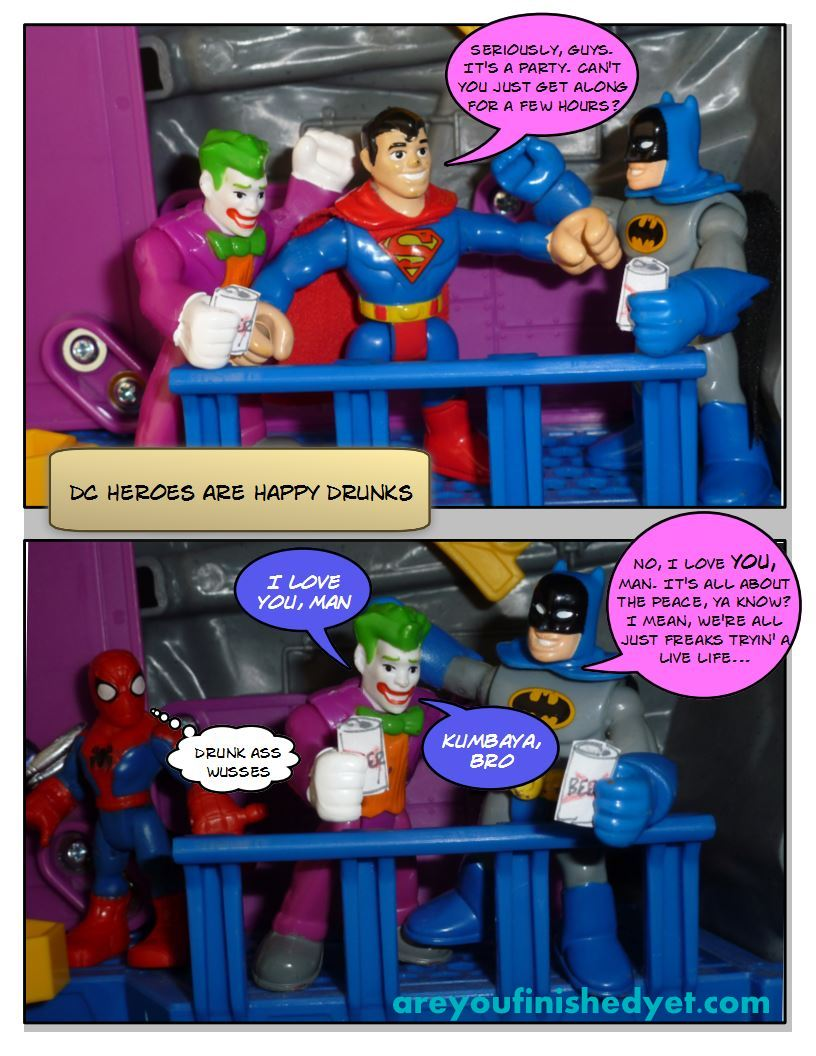 batman, joker, superman