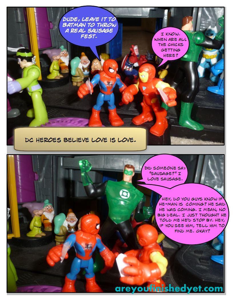 green lantern spiderman ironman