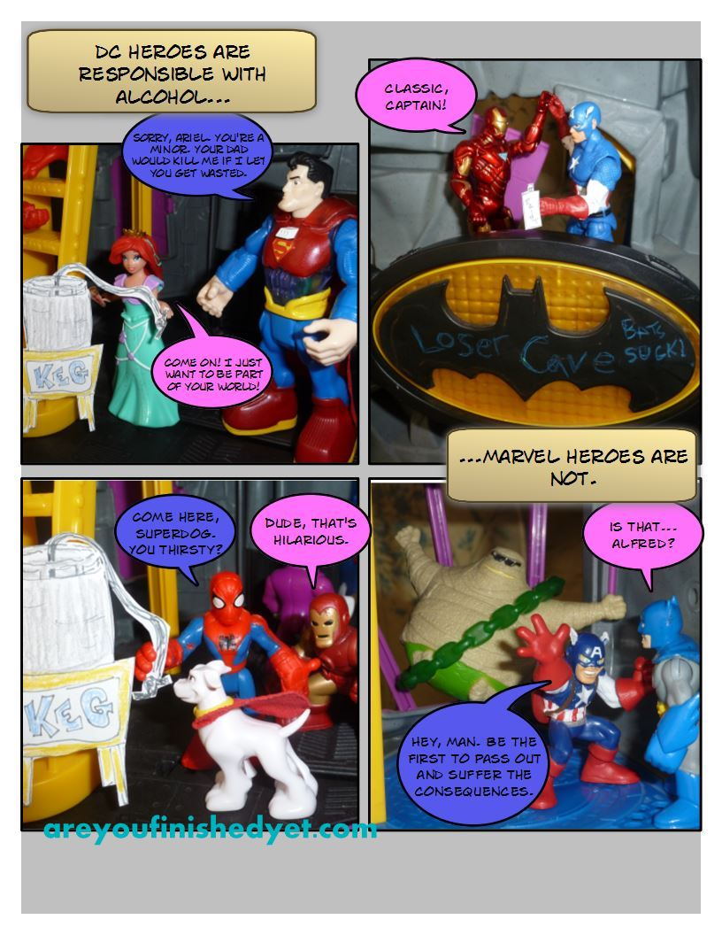 superman, belle, spiderman, captain america, ironman