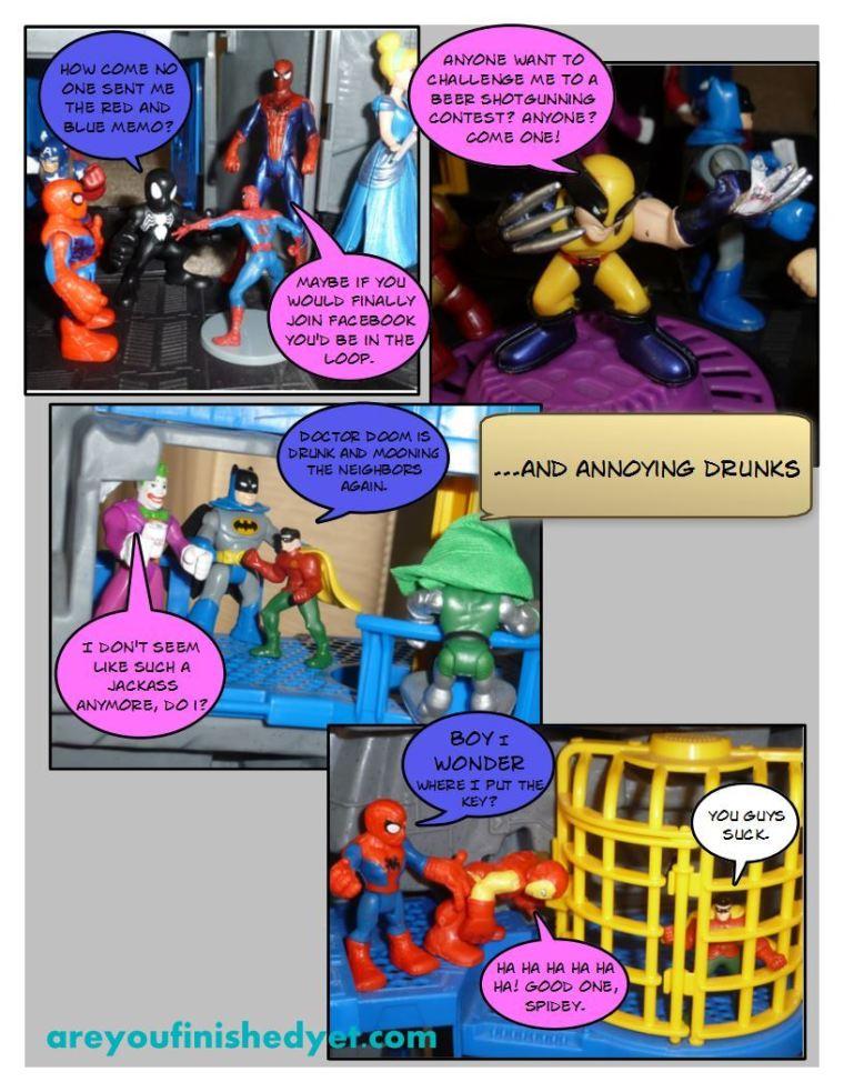 spiderman robin hulk ironman batman