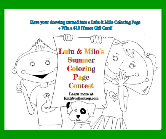lulu and milo summer coloring page contest