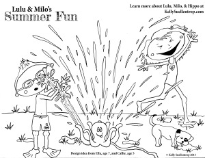 free summer coloring page