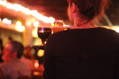 waitress, bar, drinks